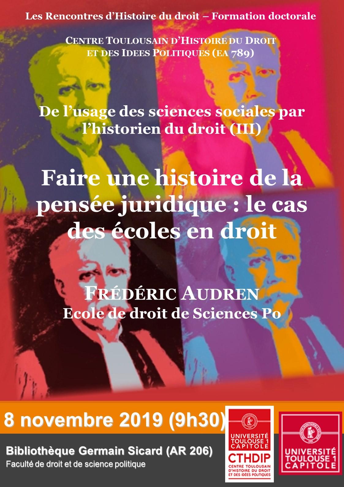Affiche Frédéric Audren 2019
